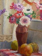 Germaine Madeleine CHAPUIS (XIX-XX) Bouquet de fleurs cadre original Art deco