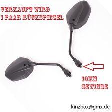 Rückspiegel Spiegel 994 Schwarz für Motorrad Roller Scooter QUAD ATV 10mm