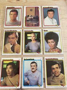 STAR TREK VINTAGE ORIGINAL 1980 TOPPS GUM CARD SET OF 88 + 22 STICKERS SPOCK