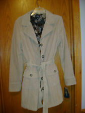 Beautiful women's camel Brown button down betted jacket coat by SONOMA size L