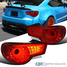 For 12-16 Scion FRS Subaru BRZ Red LED Rear Tail Lights Brake Lamps Left+Right
