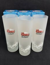 3 Frosted Coors Light Half Pint Glasses - New and Boxed  - Home Bar - Pub
