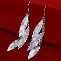ASAMO Damen Ohrhänger Ovale Ohrringe 925 Sterling Silber plattiert Schmuck O1226
