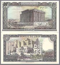 Lebanon P65d 50 Livres, Bacchus / St. Gilles citadel -Large Beauty! UNC  $4CV