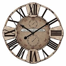 60cm New Cafe Home Decor French Provincial Country Rustic Large Metal Wall Clock