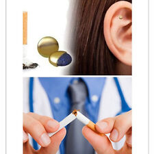 Magnet Auricular Quit Smoking Acupressure Patch No Cigarettes Health Therapy BG