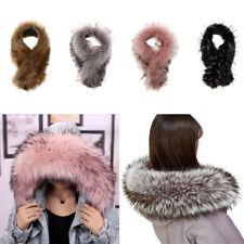 Women Faux Fur Collar Winter Solid Warm Imitation Luxury Collar Shrug Scarf