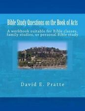 Bible Study Questions on the Book of Acts : A Workbook Suitable for Bible...
