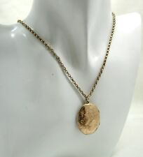 Edwardian Lovely 9 Carat Back & Front Locket On Antique Chain