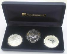 2004 3 coins australia usa westminster 5 dollars 1 dollar frosted uncirculated