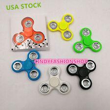 USA 6  Pack Hand Tri -Spinner Fidget Toy Plastic EDC Sensory Fidget Spinners For