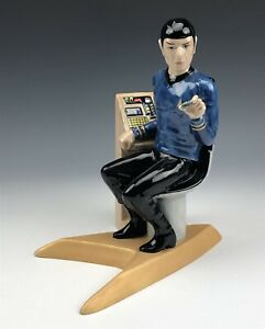 Star Trek Kevin Francis Mr. Spock Painted Ceramic RARE Prototype Toby Jug JJL