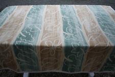 Nappe carrée en coton épais avec motifs marron beige vert  155 x 155 cm