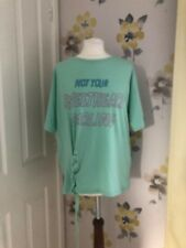 NEW PULL AND BEAR 'NOT YOUR SWEETHEART DARLING' MINT GREEN T-SHIRT-S