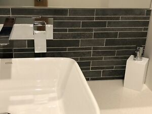 Feature Wall Tile - Grey - 3 Packs of 4