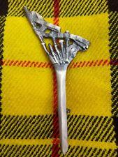 Scottish Bagpipe Kilt Pin In Brass Antique Finish Brooch Kilt Pin Kilt Pins