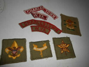 BOY SCOUTS BSA Rank Square Patch Senior Patrol Leader 2nd Class Star Tenderfoot