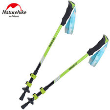 Walking Sticks Trekking Trail Poles 3-sections Adjustable Canes Ultralight  Man