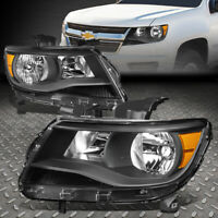 FOR 15-20 CHEVY COLORADO BLACK HOUSING AMBER CORNER HEADLIGHT REPLACEMENT LAMPS