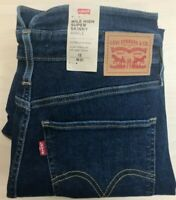 Levi's Mile High Supper Skinny Ankle HyperStretch Blue Jeans Inside Leg 27""