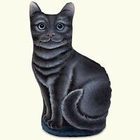 Novelty Fun Cute Kitten Weighted DoorStop Blue Canyon Door Stop Kitty Cat