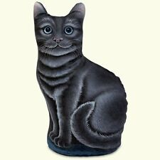 Fiddlers Elbow Sittin MINI BLACK KITTEN CAT Kitty Doorstop Paperweight Decor