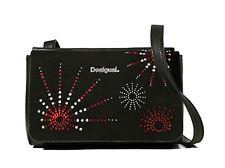 DESIGUAL Bols Dallas Blackstar Negro, Umhängetasche Schultertasche Handtasche