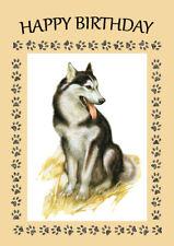 ALASKAN MALAMUTE GREAT BIRTHDAY GREETINGS NOTE CARD