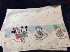 RARE Disney Babies Flannel Receiving Baby Blanket Nursery  Rhymes Mickey Minnie