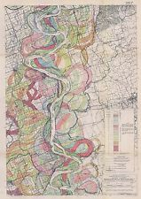 1944 Fisk Mississippi Meander Belt Ancient River Bed snakes Alluvial Valley SH 3