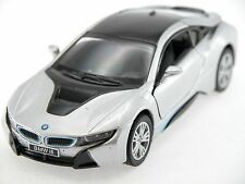 Kinsmart BMW I8 (Silver) Plug-in Hybrid Sports car 1:36 Collectable