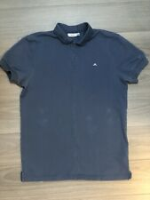 Mens Muscle Fitted Blue Fitted J Lindwberg Golf Polo Shirt S NR