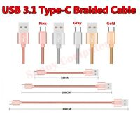 Braided USB 3.1 Type-C to Standard USB 2.0 Data Sync Power Charger Cable Cord AU