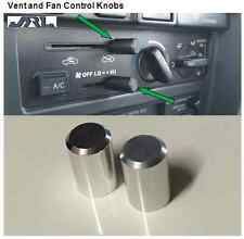 2 PIECE CLEAR BILLET ALUMINUM VENT FAN  CONTROL DASH KNOBS 4RUNNER PICKUP TACOMA
