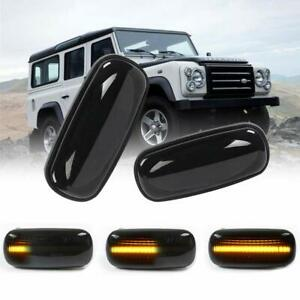 2X Dynamic LED Side Repeater Indicator Light Fit Land Rover Discovery Defender