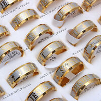 FREE 5-50pcs Wholesale Lots I Love Jesus Stainless Steel Gold P Fashion Rings