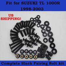 Complete Screws Black Fairing Bolt Kit fit for SUZUKI TL1000R 1998-2003 f01