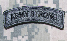 ARMY STRONG ROCKER TAB USA TACTICAL MILITARY MORALE BADGE ACU DARK VELCRO PATCH