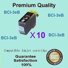 10 X Compatible Canon BCI-3ebk Black ink for pixma ip3000 MP700 MP730 i560