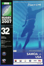 Samoa v Usa Rugby World Cup 2007 Programme