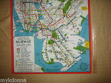 NY New York City Brooklyn 1948 SUBWAY Train MAP Print REPRO of vtg NYC Transit