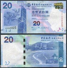 HONG KONG  BOC BANK OF CHINA  20 Dólares 2010 2012  Pick nuevo  SC /  UNC
