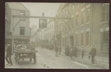 Derbys ASHBOURNE 1905 RP PPC super close up street scene P Hansen