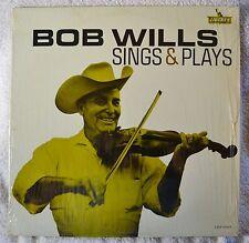 Bob Wills Sings and & Plays Orig Mono LP VG+++ Shrink Western Swing Fiddle NICE