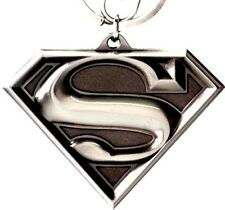 DC Superman Shield Logo Metal Key Chain Good weight Darker Background Awesome