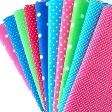 REMNANTS - 10 HALF METRE ALL COLOURS - ALL THE DOTS  BUNDLE POLY COTTON FABRIC