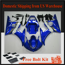 Fairing ABS Blue White Injection Plastic Fit for Yamaha YZF R6 2003 2004 2005