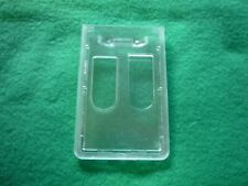 Rigidhard Plastic Vertical Id Badge Holder With Two Thumb Holes Pack Of 10