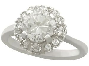 Vintage 1.83 ct Diamond and White Gold Dress Ring