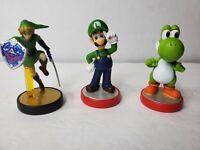 Nintendo Amiibo Luigi Super Mario Series Red Base NVL-001 SSB Link, Mario Yoshi